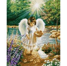 Картина по номерам Babylon Ангелочек и утята VP902 40 х 50см