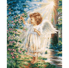Картина по номерам Babylon Весенний ангелочек VP903 40 х 50см