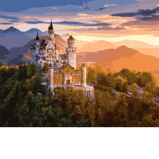 Замок в лучах заката VP908