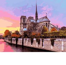 Рассвет над собором Парижской Богоматери VP939