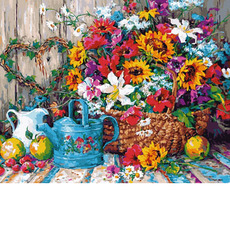 Натюрморт с цветочной лейкой VP944