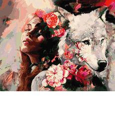 Картина раскраска Babylon Белая волчица VP976 40 х 50 см