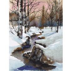 Зима Набор для вышивки крестом Luca-S B609